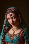 pic of national costume  - A beautiful Indian princess in national dress - JPG