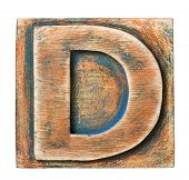 picture of letter d  - Wooden alphabet block - JPG