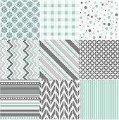 pic of zigzag  - Seamless patterns with fabric texture - JPG