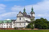 picture of stanislaus church  - view on skalka church in cracow in poland - JPG