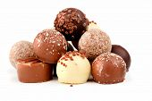 stock photo of truffle  - chocolate pralines - JPG