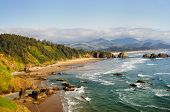 stock photo of cannon  - Ecola State Park Overlook - JPG
