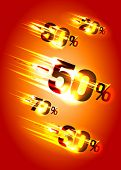 stock photo of meteoric rain  - Meteor rain discounts - JPG