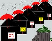 image of waste reduction  - The real estate market is in turmoil and this illustration represents its hardships - JPG