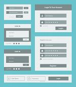picture of accountability  - Vector set of user interface login and account registration form design - JPG