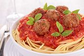 picture of meatballs  - spaghetti - JPG