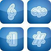 stock photo of g clef  - Music notation represents music through the use of written symbols - JPG