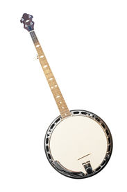 picture of banjo  - banjo isolated under the white background - JPG