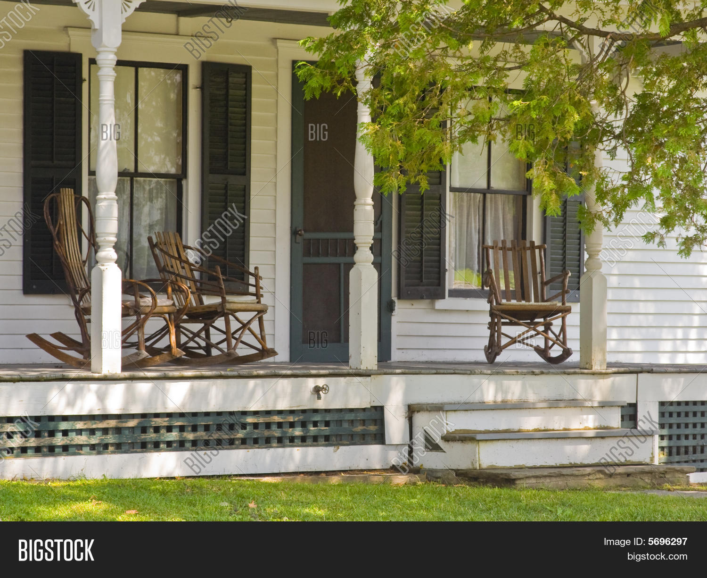 Vintage vermont front porch rocking image amp photo bigstock