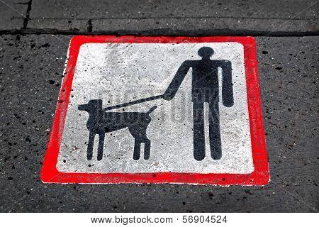 Dog Walking Sign