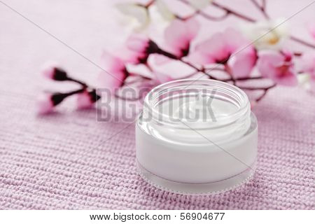 jar of facial cream - beauty treatment