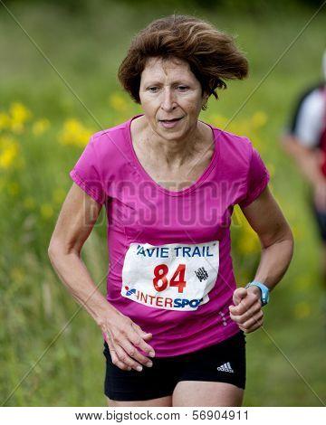 Portrait of an elderly runner