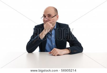 Young Business Man On A Desk