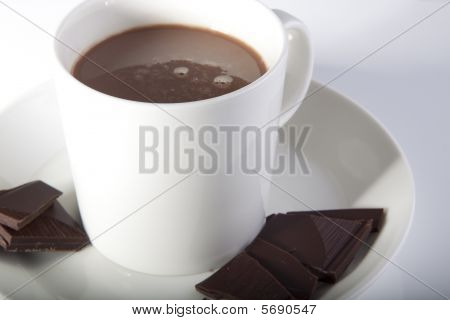 Hot Chocolate And Pieces Og Dark Chocolate
