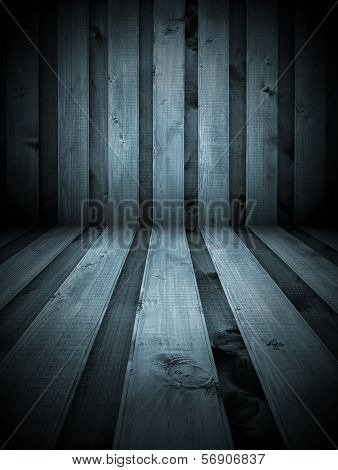 Black And White Wooden Room