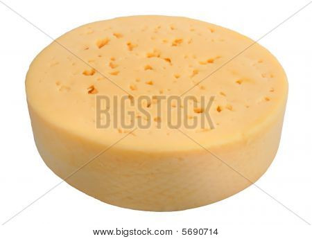 Yellow Cheese Of Circle Form.
