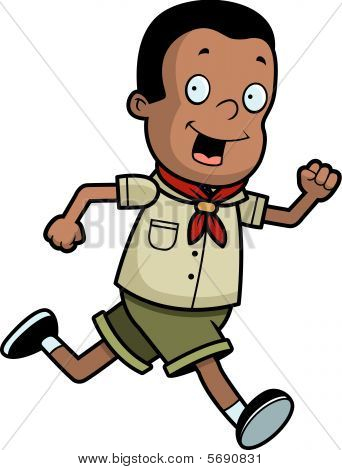 Boy Scout Running