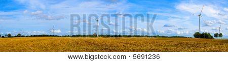 Panorama Of Wind Turbines
