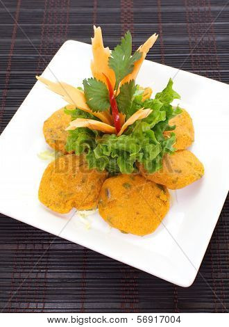 Thai Food Fish Cake Tod Mun Pla