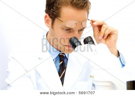 Male Scientist Working In A Lab