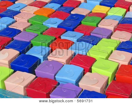 Colorful Chinese Take Out Boxes