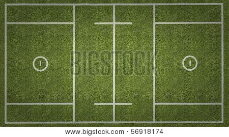 Mens Lacrosse Playing Field With Vignette