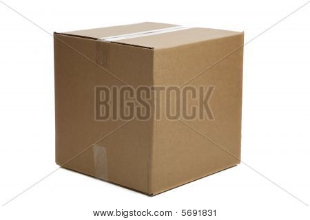 Blank Closed Cardboard Box