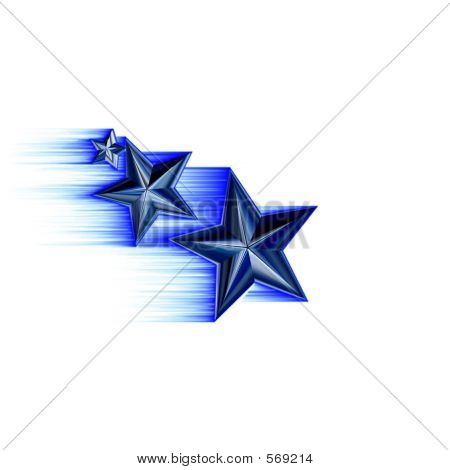 Blue 3d Shooting Stars
