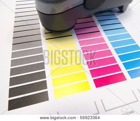 Spectrometer On Colour Chart