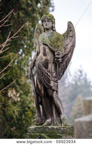 Angel on the grave at Lychakiv cemetery, Lviv, Ukraine