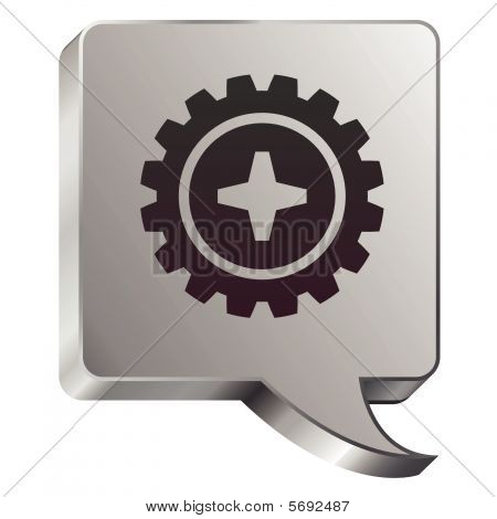 Gear speech bubble