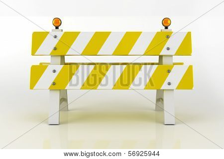 Road Barricade Sign