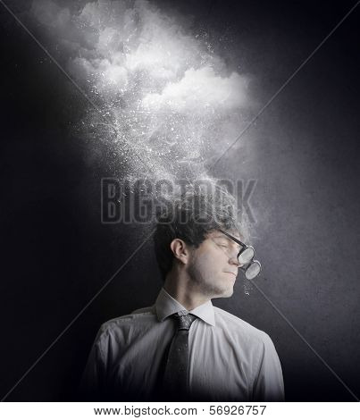 foggy businessman