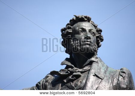 Monument to great russian poet Pushkin