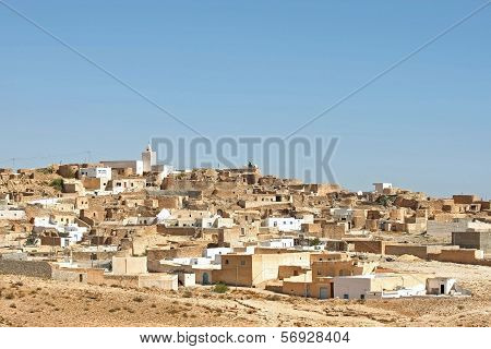 Village Tamezret In Tunisia