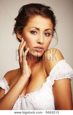 Portrait Of A Attractive Young Woman