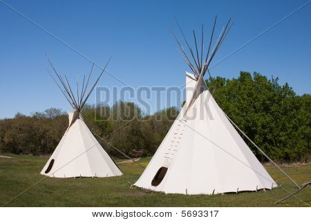 Pair Of Indian Teepees