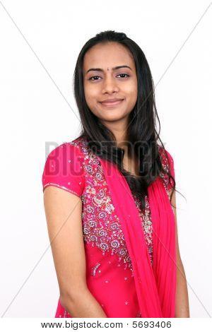 Hermosa joven India.