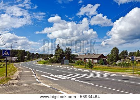Federal Highway M18 Kola Of Saint-petersburg - Murmansk. Karelia, Russia