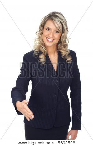 Friendly Businesswoman