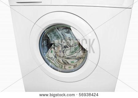 Money laundering in washing machine