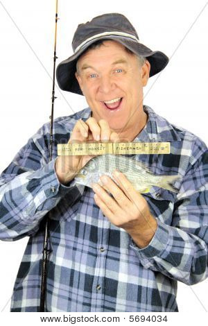 Pescador com régua