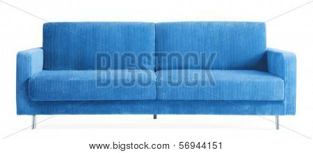 isolated blue couch