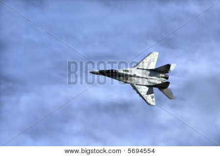 Military Airplane In Sky