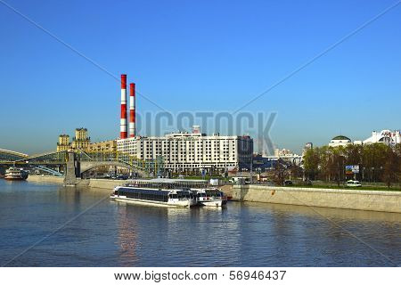 Moscow - May 07: Radisson Slavyanskaya Hotel On The Moskva River Embankment On May 07, 2013 In Mosco