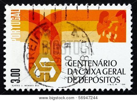 Postage Stamp Portugal 1976 Bank Emblem And Family