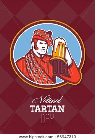 National Tartan Day Beer Drinker Greeting Card