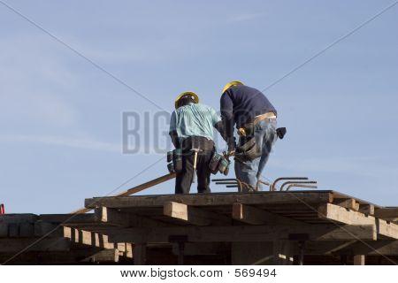 Rooftop Workers
