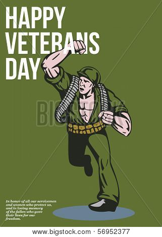 World War Two Veterans Day Soldier Card