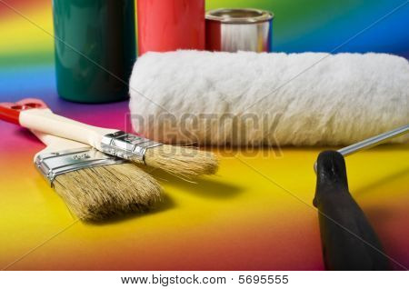 Painting Tools And Colors